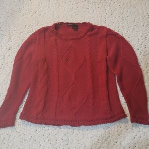 3/$25 Red NorthCrest Knit Sweater